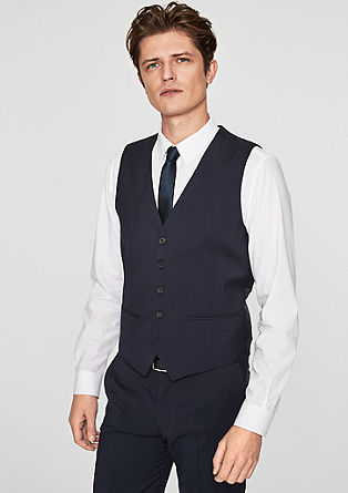 Elegant suit waistcoat in new wool from s.Oliver