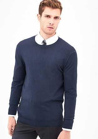 Merino wool jumper in a garment dye from s.Oliver