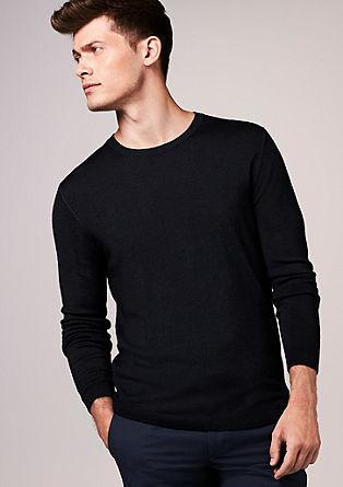 Merino-Wollpullover in Garment Dye