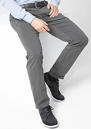 Velvety stretch cotton chinos from s.Oliver