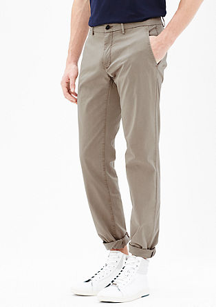 Mauro Slim: satin chinos from s.Oliver
