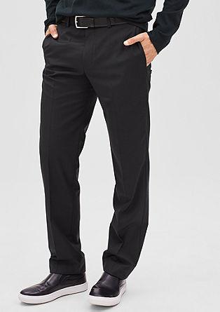 Regular: Anzughose mit Schurwolle