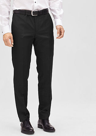 Slim: elegant business trousers from s.Oliver