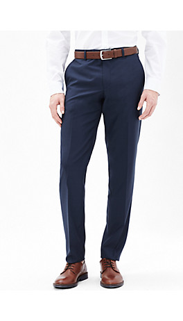 Slim: trousers in pure new wool from s.Oliver