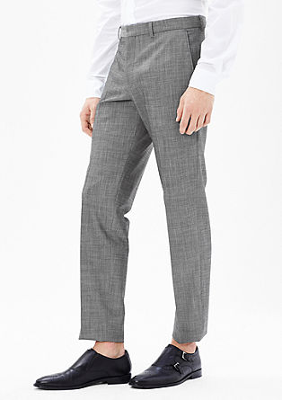 Slim: Flexible trousers in new wool from s.Oliver
