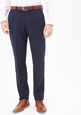 Cesano Slim: slim fit business trousers from s.Oliver