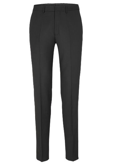 Cosimo Slim Flex: Textured suit trousers from s.Oliver