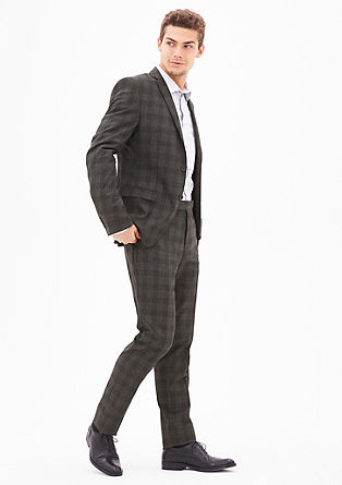 Cosimo Slim: glen plaid suit trousers from s.Oliver