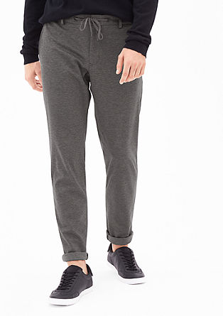 Tracksuit: Mottled suit trousers from s.Oliver