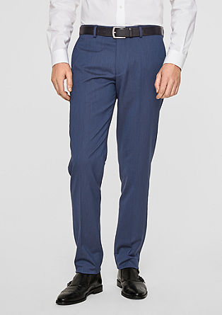 Cesano Slim: textured suit trousers from s.Oliver