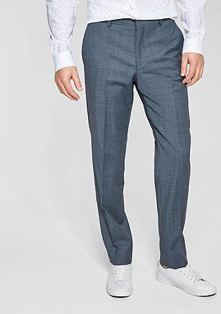 suit trousers with a woven texture from s.Oliver