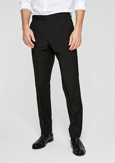Regular: Hlače za k obleki s strižno volno