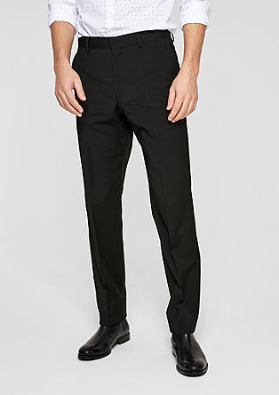 s.OBROKER Regular: Suit trousers from s.Oliver