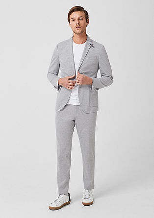 Slim: Melange tracksuit suit trousers from s.Oliver
