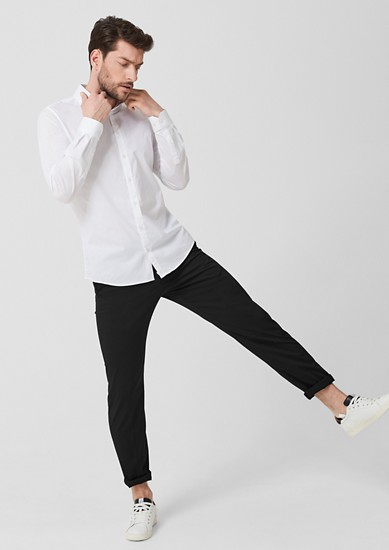 Slim: pantalon, wasbaar