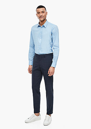 Slim: Trousers in a new wool blend from s.Oliver