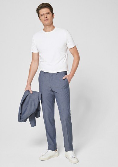 Slim: Strukturierte Anzughose