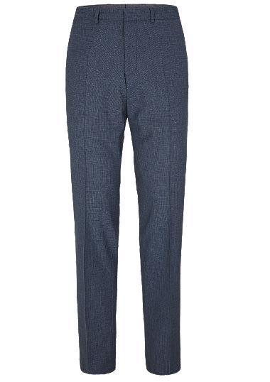 Slim: Anzughose aus Wollmix