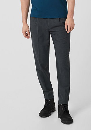 Relaxed: Lightweight suit trousers from s.Oliver