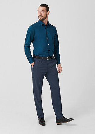 Regular: Suit trousers with a textured pattern from s.Oliver