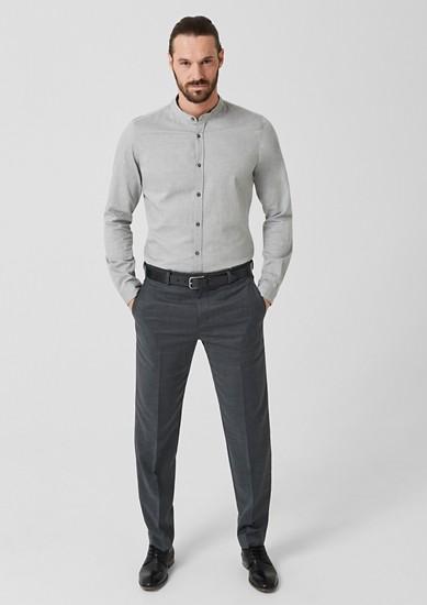 Regular: pantalon van een scheerwolmix