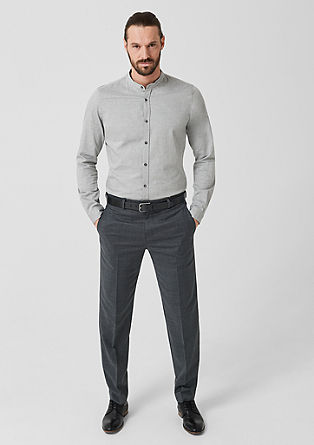 Regular: suit trousers in blended new wool from s.Oliver