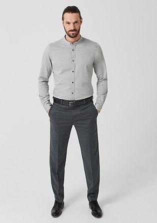Regular: Anzughose aus Schurwoll-Blend