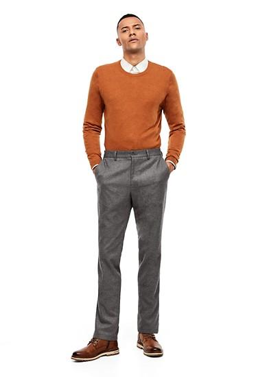 Slim: broek van fijn flanel