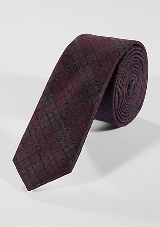 Tie with a textured pattern from s.Oliver