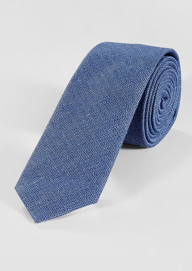 Tie with a woven texture from s.Oliver