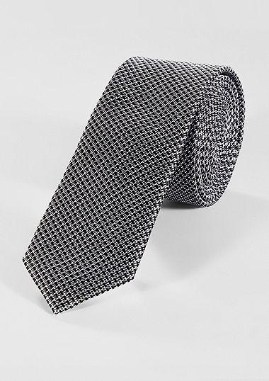 Zijden stropdas met fijn motief