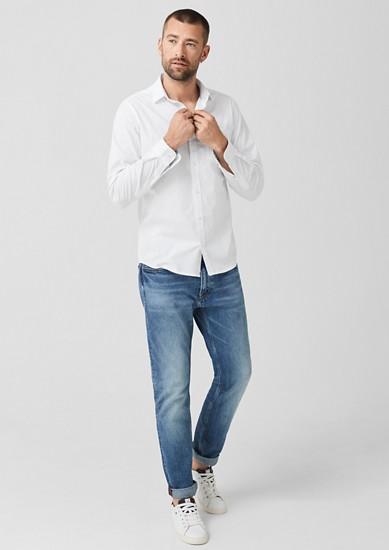 Slim: elastisch katoenen overhemd