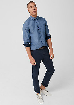 Slim: stretch cotton shirt from s.Oliver