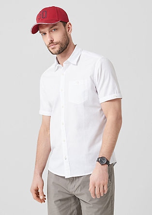 Regular: shirt with a textured pattern from s.Oliver