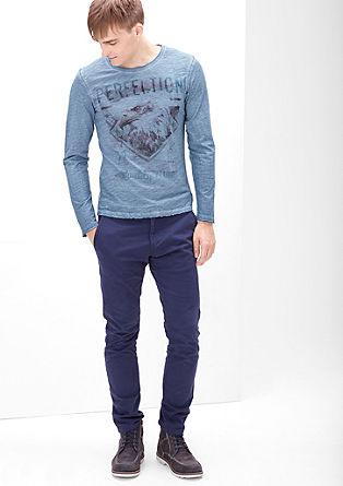 Flammgarn-Shirt mit Print