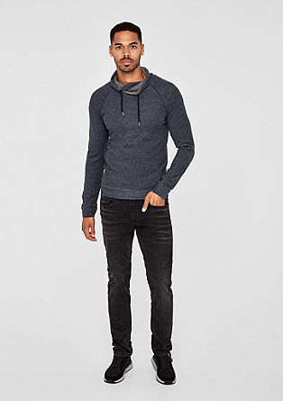 T-shirt à manches longues et col cheminée de s.Oliver