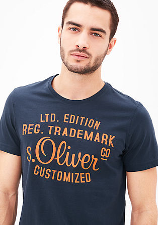 T-shirt with a logo print from s.Oliver