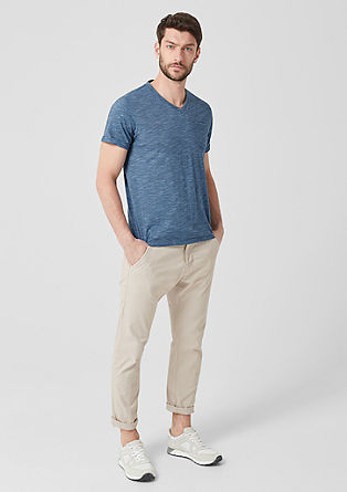 V-neck T-shirt with a striped texture from s.Oliver