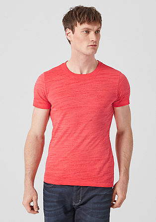 Slim: T-shirt met garment-dyed effect