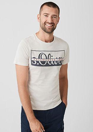 Slim: Jerseyshirt mit Frontprint