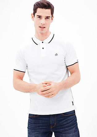 Slim: Piqué polo shirt with colour accents from s.Oliver