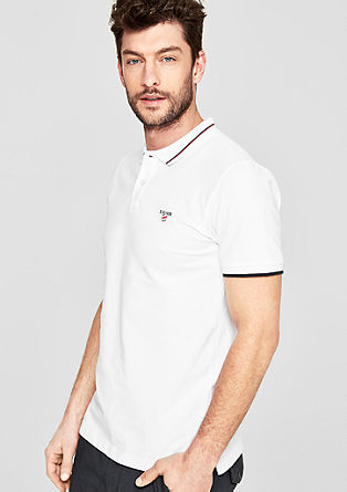 Slim: polo shirt with colour accents from s.Oliver