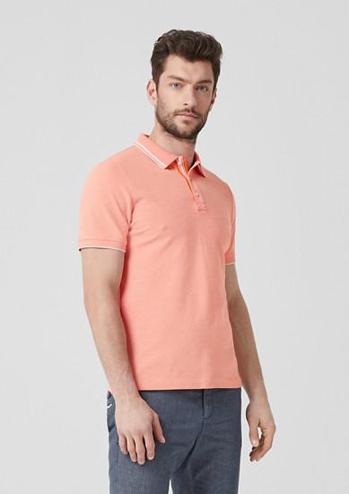 Slim: Meliertes Poloshirt