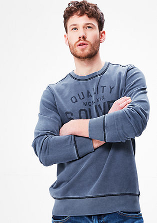 Label sweatshirt, garment dyed from s.Oliver