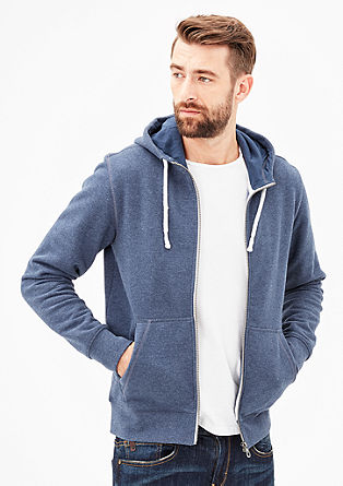 Subtle melange sweatshirt jacket from s.Oliver