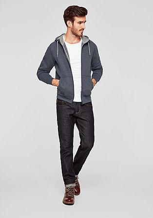 Hoodie-Jacke mit Durchzugkordel