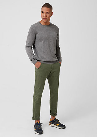 Cotton jumper with a crew neck from s.Oliver