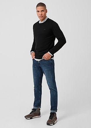 Bavlněný pulovr skulatým výstřihem