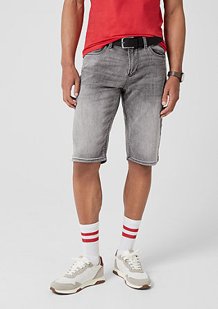 Tubx regular: elastische denim short