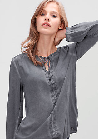 Tunika-Bluse in Garment-Dye